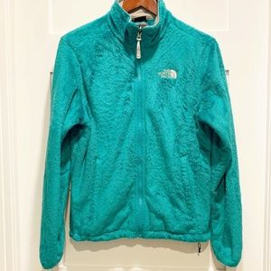 The North Face Osito Plush Teal Fleece Jacket